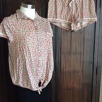 Kensie Shirt Top & Boxer Short Pajama Set Banana Print Pink/yellow Medium Nwt Photo
