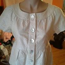 Kensie Short Sleeve sz.6 Jacket White Off Color Photo