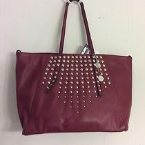 Kensie Silver- Studded Wine Tote Bag. Nwt Photo