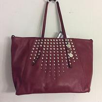 Kensie Silver- Studded Wine Tote Bag. Nwt Photo