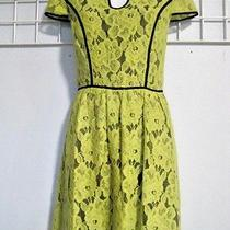 Kensie Size Junior Small Lime Green Lace Dress Fully Lined  Photo