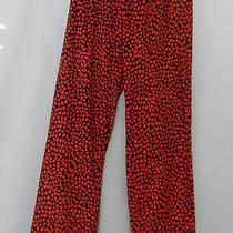 Kensie Sleep Pants Black W Heart Print Polyester Full Elastic W Tie Medium Nwt C Photo