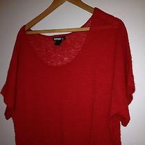 Kensie Sweater Woman Size L Wool Alpaca and Acrylic Red Photo