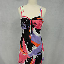 Kensie Sz M Abstract Print Cotton Sundress Photo