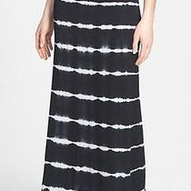 Kensie Tie-Dye Maxi Skirt Black & White Size Small Nwt Photo