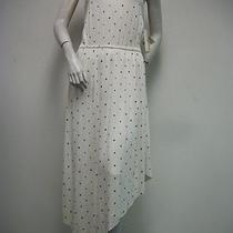 Kensie White Blue Polka Dot Dress Style Fmup9058 Size Xs New Nwt Photo