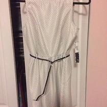 Kensie White Dress With Black Polka Dots. Nwt Photo