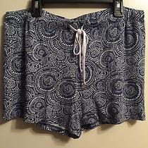 Kensie Woman's Sleepwear Shorts Light Blue and White Size Large Nwt Photo