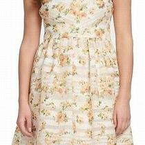 Kensie Women's a-Line Dress Yellow Size 2 Floral Print Sleeveless 108 022 Photo