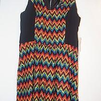 Kensie Womens Black Combo Dress Size Small - Colorful Sleeveless Retail 99 Nwt Photo