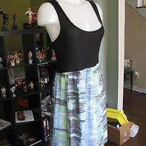 Kensie Women's Black Multi-Colored Bottom Sleeveless Dress Size Medium A Photo