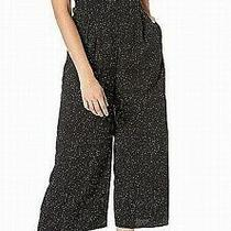 Kensie Women's Confetti Jumpsuit Black Size Xs v-Neck Shirred Printed 119 759 Photo