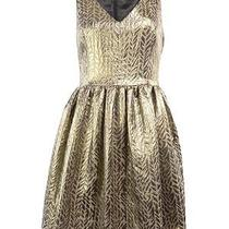 Kensie Women's Metallic and Tweed v Neck Dress Photo