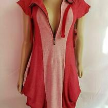 Kensie Women's Pink Sweatshirt Dress Tonal French Terry Size Xs New With Tags Photo