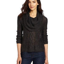 Kensie Women's Scattered Sequins Sweater Heather Graphite X-Large  Photo