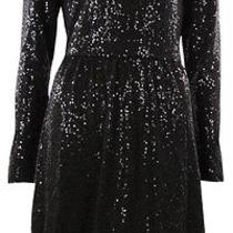 Kensie Women's Sequined Long Sleeves Dress S Black Photo