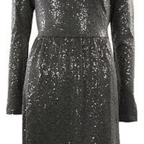 Kensie Women's Sequined Long Sleeves Dress Xs Charcoal Photo