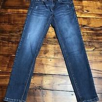 Kensie Women's Size 4 Effortless Ankle Biter Skinny Jeans Blue Denim Photo