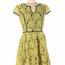 Kensie Women Yellow Casual Dress M Photo