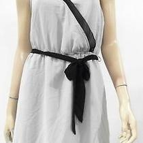 Kensie Womens 6 Chiffon Contrast Trim Cinch Waist a-Line Dress Solid Chop 46liz1 Photo