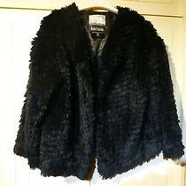 Kensie Womens Black Faux Fur Short Jacket Size L Photo