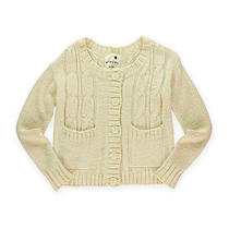 Kensie Womens Cable Knit Sweater Birch S Photo