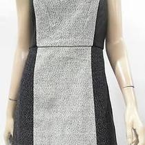 Kensie Womens M Tweed Paneled Straight Shift Dress Above Knee Career Chop 46j3z2 Photo