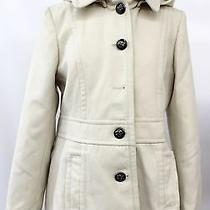 Kensie Womens Off White Peacoat Size Small Photo
