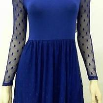 Kensie Womens S Dot Lace High Waist Baby Doll Dress Above Knee Party Chop 46evz1 Photo