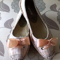 Kensie Wood Pink Flat Espadrilles Sz6 Photo