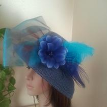 Kentucky Derby Hatstea Party Hats Race Hats Church Hats Fancy Hatswide Brim Photo
