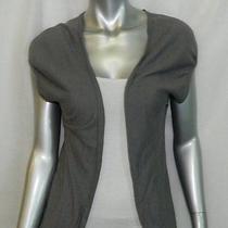 Kenzie Girl Grey Cap Sleeve Open Front Knit Cardigan Sweater Sz L Photo