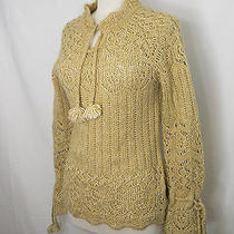 Kenzie Knitted Yellow Knitted Wool Sweater M Photo