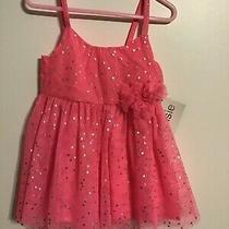 Kenzie Pink W/silver Dots Dance or Dress Up Dress W/ Bow Size 2 Photo