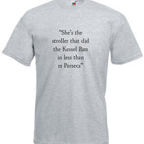 Kessel Run in Less Than 12 Parsecs Star Wars Inspired Men's Printed T-Shirt Photo