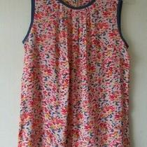 Kew 156  Shell Vest Blouse Top Blue Blush Pink Crepe Sz S 10 New Photo