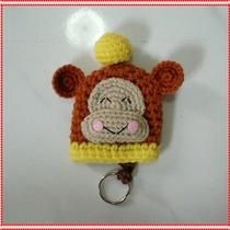 Key Cover Crochet Handmade Sanrio Monkichi Key Ring Photo
