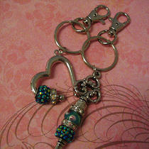 Keychains Heart and Key for Couples Sisters or Friends Gift Photo