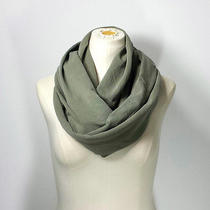 Khaki Green Infinity Scarf - the Grande - Military Green Eternity Scarf - Cotton Photo