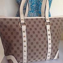 Khaki Studded New Women's Tote Handbag Large Looks Like Gucci Photo