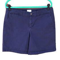 Khakis by Gap Shorts 12 Boyfriend Navy Blue Bermuda Walking Chino Casual Summer Photo