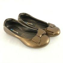 Kid Express Toddler Girls Ballet Flats Faux Leather Slip on Bow Bronze 30 Us 12 Photo
