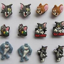 Kid Party Gifts 12pcs Tom and Jerry Shoe Charm Buckle Ornament Fit Bracelet Band Photo