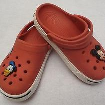Kid's Crocs With Mickey Charms Red  Unisex Youth Size 10 / 11 Photo