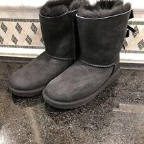 Kid's Ugg Black Bailey Bow Ii Boots- Size 1 - 1017394 Photo
