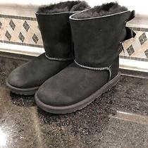 Kid's Ugg Black Bailey Bow Ii Boots- Size 2-1017394 Photo