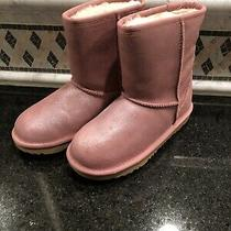 Kid's Ugg Classic Short I Pink Boots- Size 2- 1110692 Photo