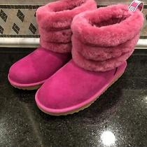 Kid's Ugg Fluff Mini Quilted Pink Boots- Size 3- 1103612 Photo