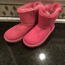 Kid's Ugg Pink Mini Bailey Bow Ii Boots- Size 2- 1017397 Photo
