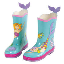 Kidorable 12 M Us Little Kid Toddler/little Kid Mermaid Rainboot Aqua Photo